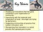 key themes