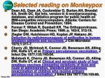 selected reading on monkeypox39