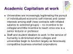 academic capitalism at work