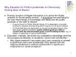 why education for profit is problematic for democracy closing down of dissent
