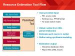 resource estimation tool flow