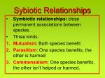 sybiotic relationships