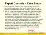 export controls case study