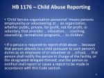 hb 1176 child abuse reporting
