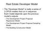 real estate developer model