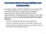 local school district responsibilities and competencies