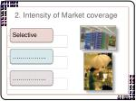 2 intensity of market coverage