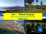 and natural uruguay http www uruguaynatural com thank you