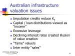 australian infrastructure valuation issues