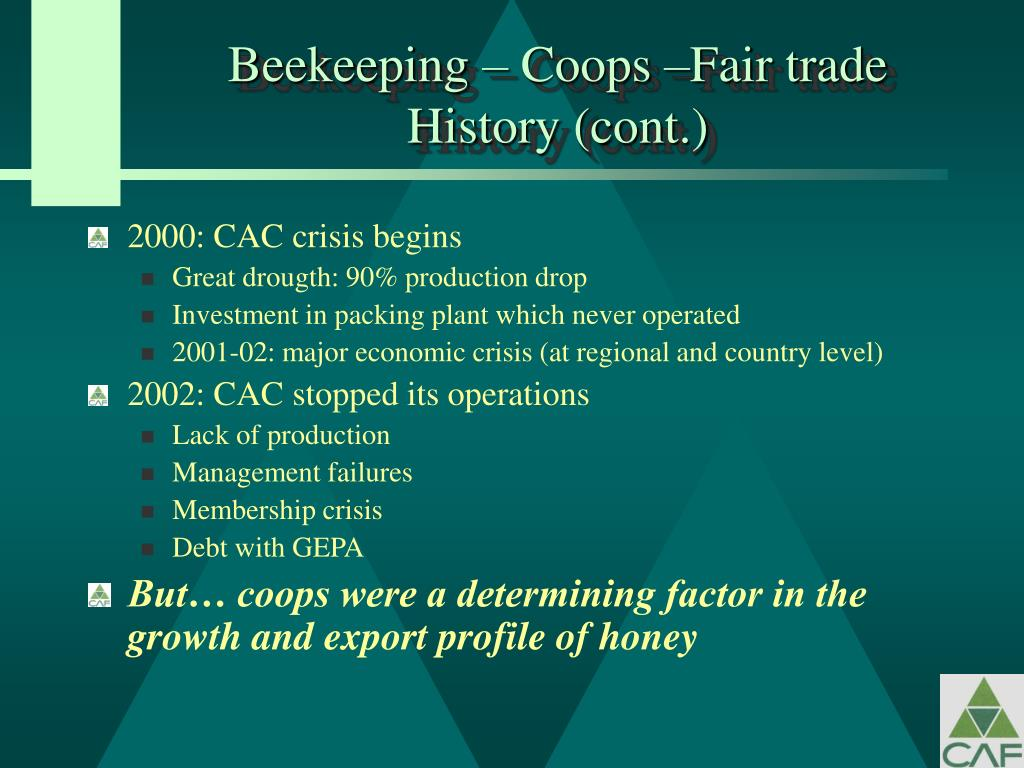 Beekeeping – Coops –Fair trade