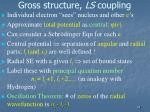 gross structure ls coupling