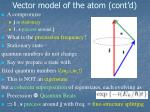 vector model of the atom cont d2