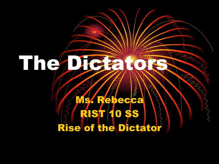 the dictators n.