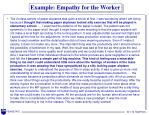 example empathy for the worker