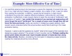 example more effective use of time