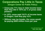 corporations pay little in taxes oregon center for public policy