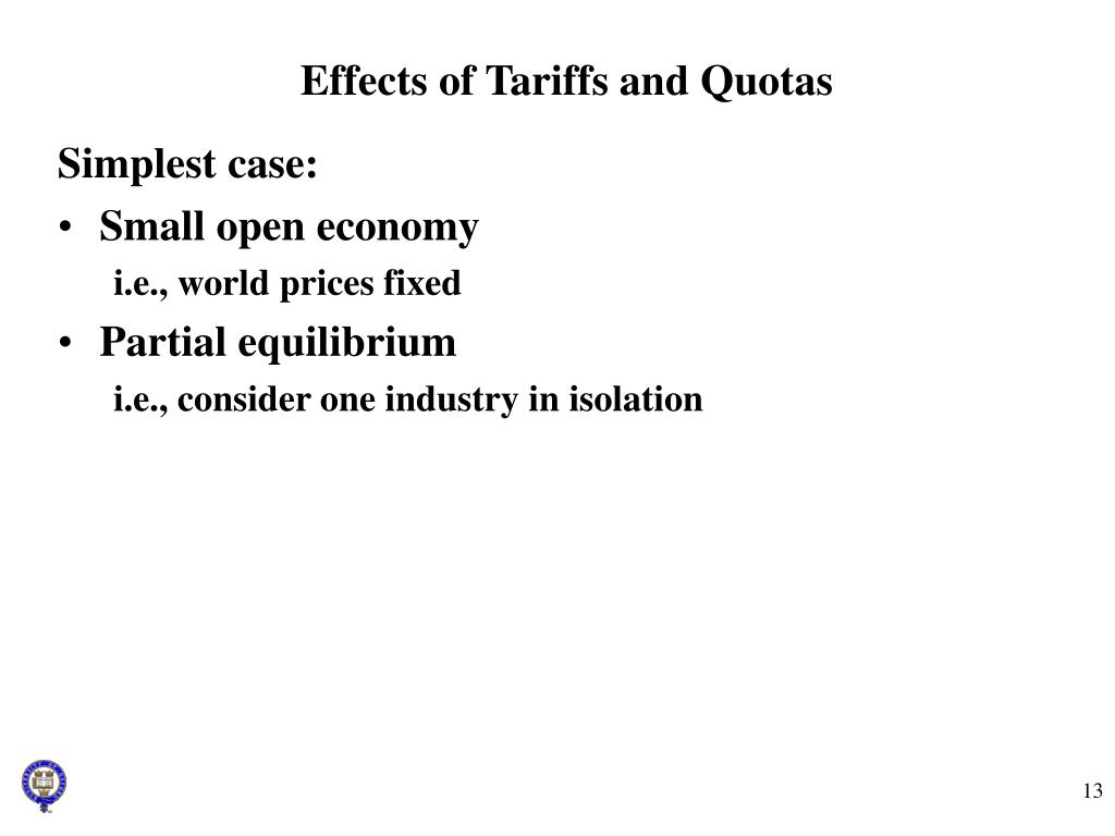 Effects of Tariffs and Quotas