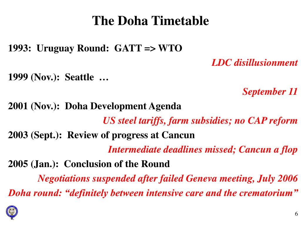 The Doha Timetable