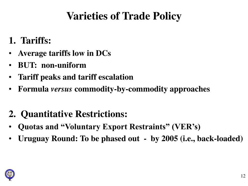 Varieties of Trade Policy
