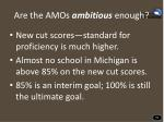 are the amos ambitious enough