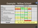 example yellow school