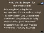 principle 3b support for implementation