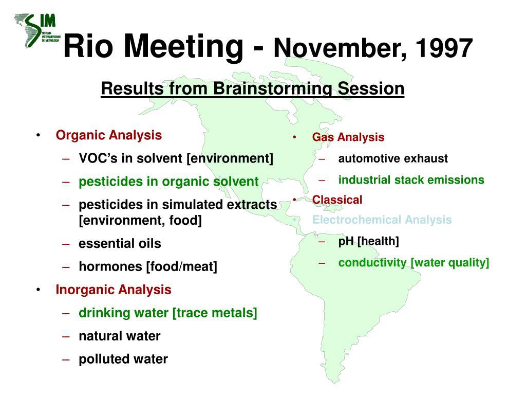 Rio Meeting -