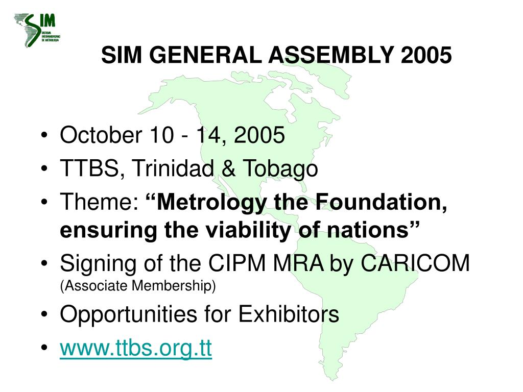 SIM GENERAL ASSEMBLY 2005