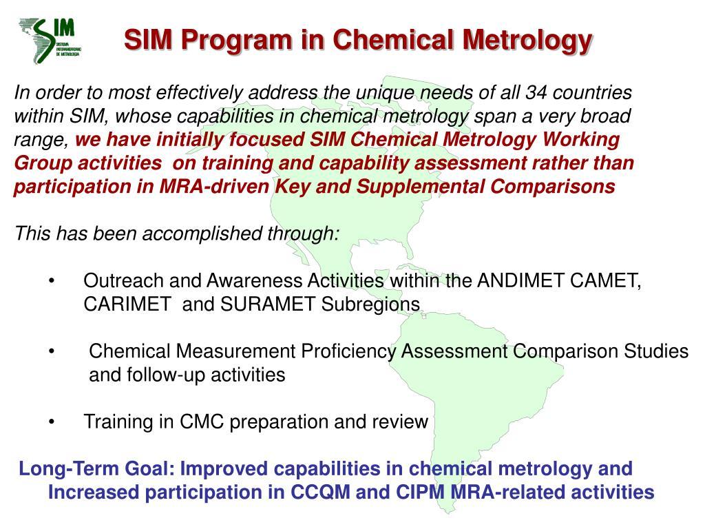 SIM Program in Chemical Metrology