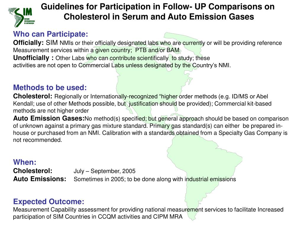 Guidelines for Participation in Follow- UP Comparisons on