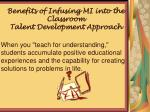 benefits of infusing mi into the classroom talent development approach2