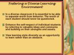 fostering a diverse learning environment