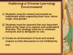 fostering a diverse learning environment1