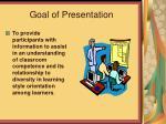 goal of presentation