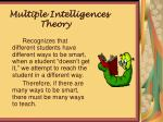 multiple intelligences theory theorymm