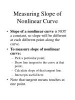 measuring slope of nonlinear curve