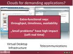 cloud s for demanding applications1