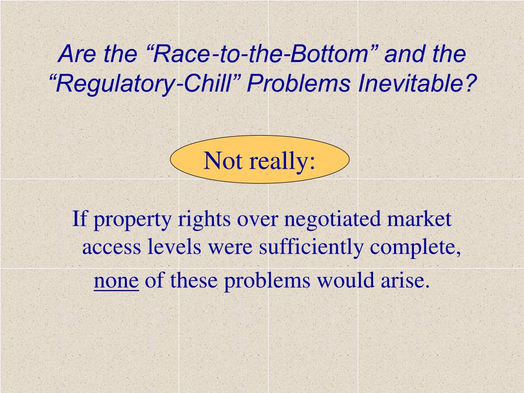 """Are the """"Race-to-the-Bottom"""" and the """"Regulatory-Chill"""" Problems Inevitable?"""