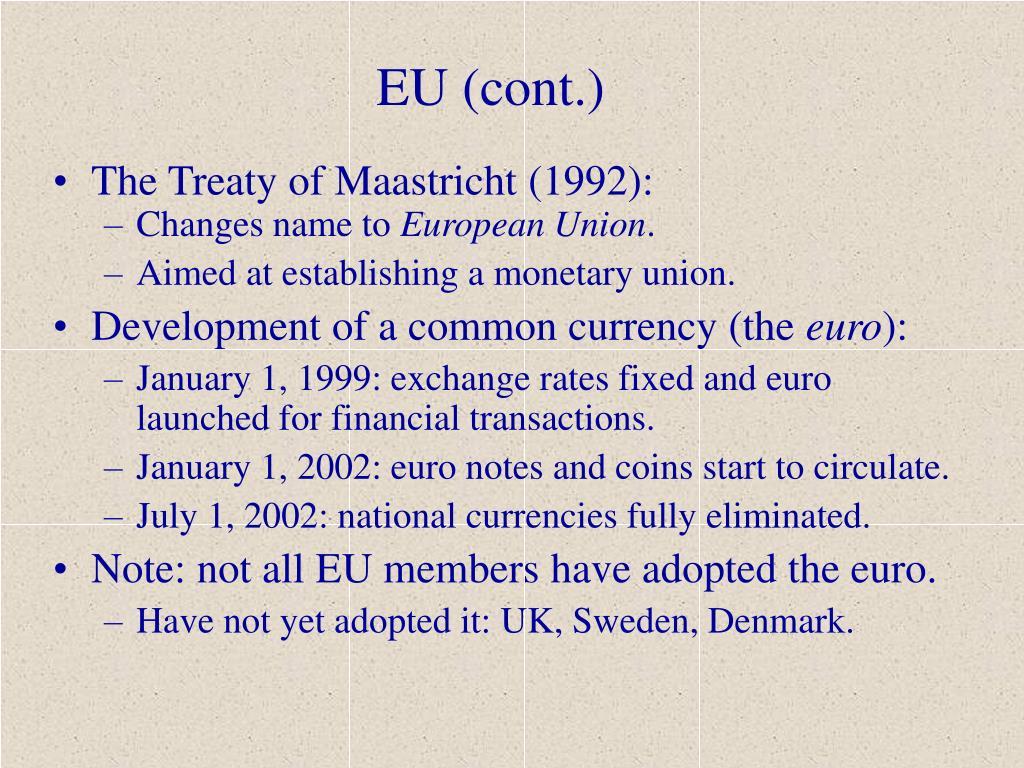 EU (cont.)