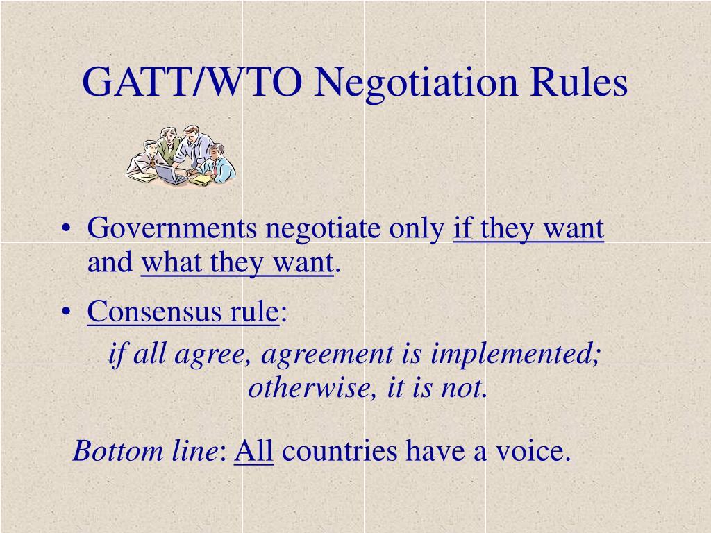 GATT/WTO Negotiation Rules