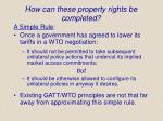 how can these property rights be completed