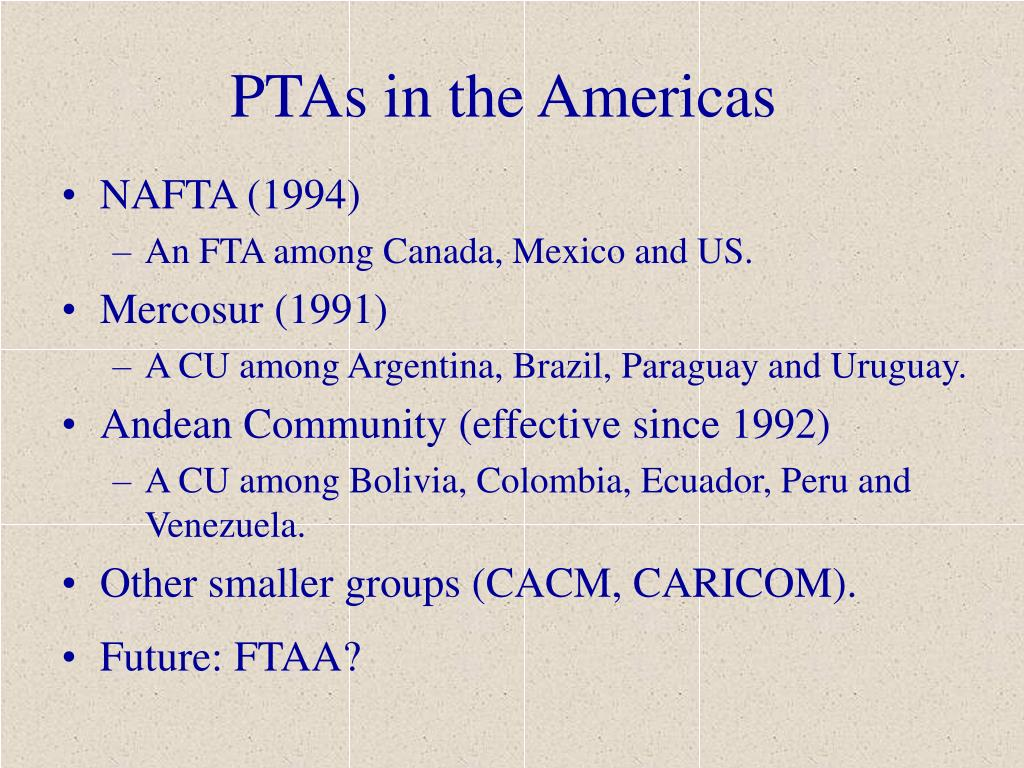 PTAs in the Americas