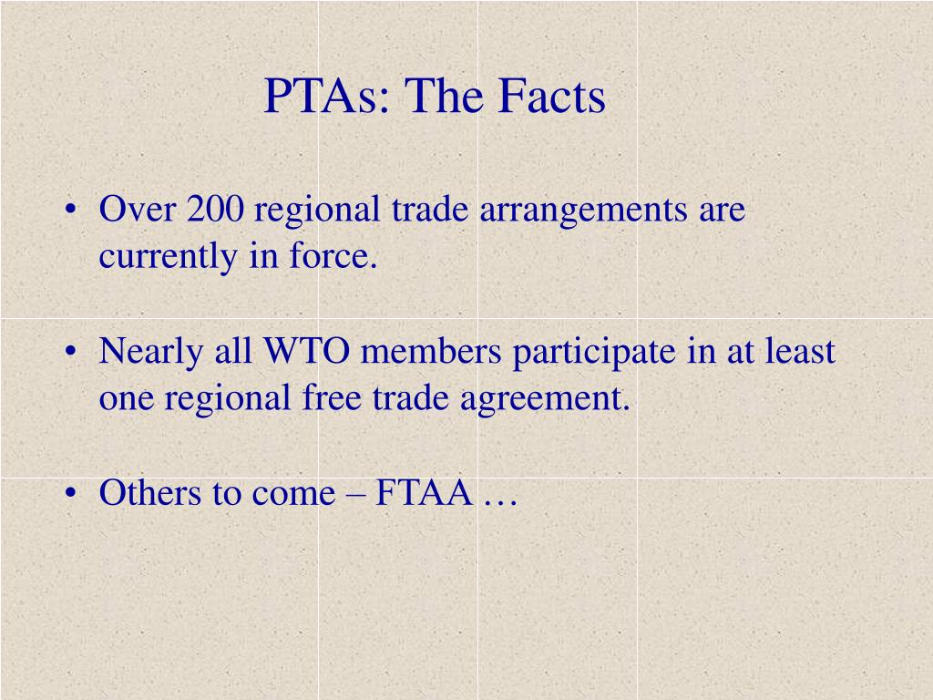PTAs: The Facts