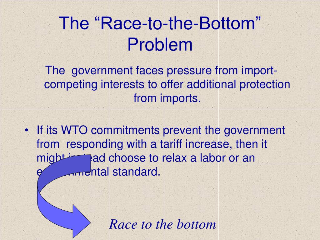 """The """"Race-to-the-Bottom"""" Problem"""