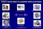 first wave msc flagship applications