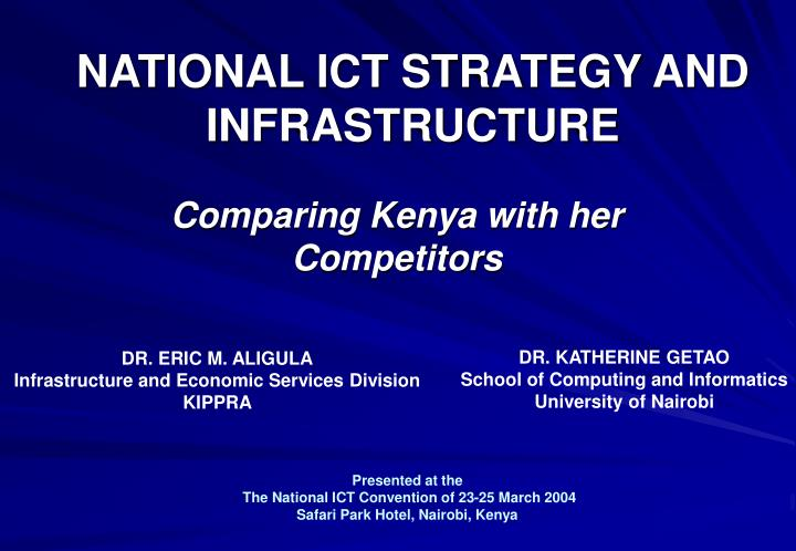 national ict strategy and infrastructure n.