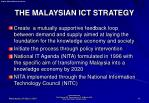 the malaysian ict strategy