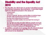 disability and the equality act 2010