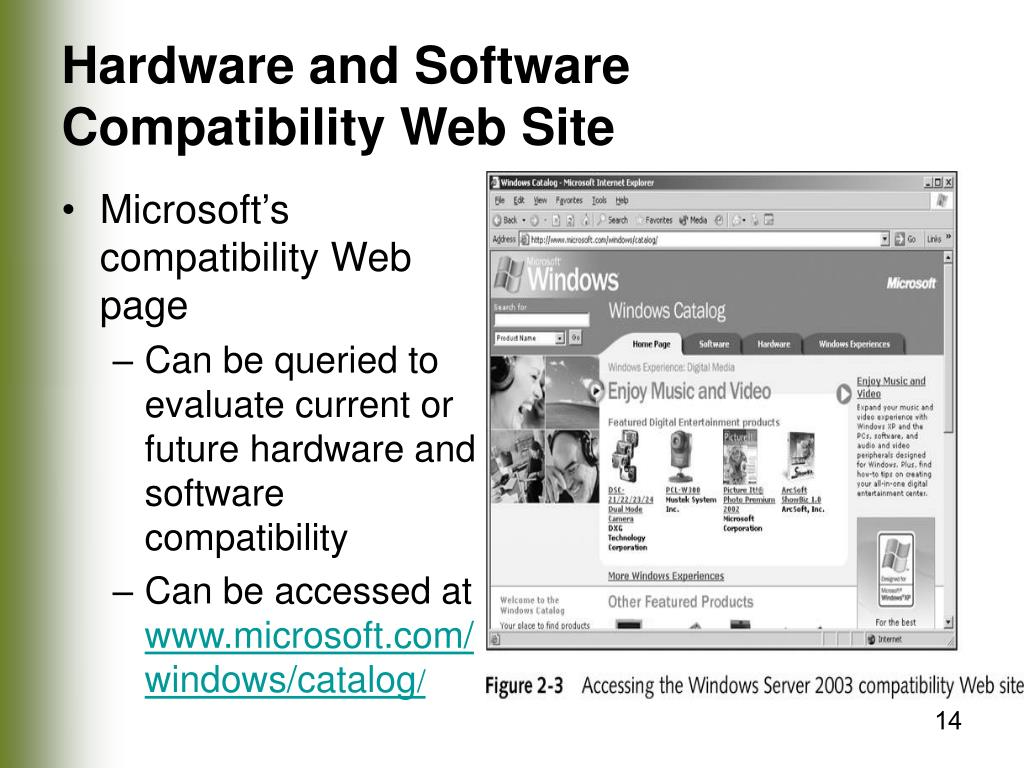 Hardware and Software Compatibility Web Site