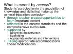 what is meant by access